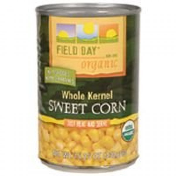 [Field Day] Canned Veggies Whole Kernel Corn  At least 95% Organic