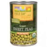 [Field Day] Canned Veggies Sweet Peas  At least 95% Organic