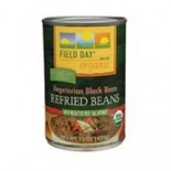 [Field Day] Canned Beans Black, Refried, Vegetarian  At least 95% Organic