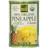 [Native Forest]  Pineapple Chunks  100% Organic