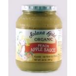 [Solana Gold Organics] Applesauce Peach  At least 95% Organic