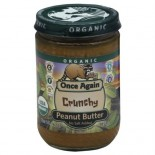 [Once Again] Nut Butters Peanut Butter Crunchy No Salt  At least 95% Organic