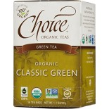[Choice Organic Teas] 6/16 Bag-Fair Trade Certified Teas Classic Blend Green  At least 95% Organic