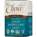[Choice Organic Teas] 6/16 Bag-Fair Trade Certified Teas Green Moroccan Mint  At least 95% Organic