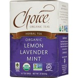 [Choice Organic Teas] 6/16 Bag-Fair Trade Certified Teas Lemon Lavender Mint  At least 95% Organic