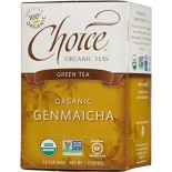 [Choice Organic Teas] 6/16 Bag Genmaicha Green w/Tstd Brown Rice  At least 95% Organic