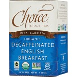 [Choice Organic Teas] 6/16 Bag-Fair Trade Certified Teas Decaffeinated English Breakfast  At least 95% Organic