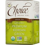 [Choice Organic Teas] 6/16 Bag Green, Premium Korean  At least 95% Organic