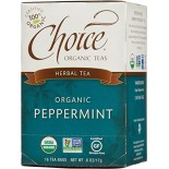 [Choice Organic Teas] 6/16 Bag Peppermint  At least 95% Organic