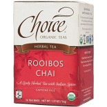 [Choice Organic Teas] 6/16 Bag Chai, Rooibos  At least 95% Organic