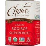 [Choice Organic Teas] 6/16 Bag-Fair Trade Certified Teas Rooibos Superfruit  At least 95% Organic