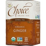 [Choice Organic Teas] 6/16 Bag-Fair Trade Certified Teas Ginger Herb  At least 95% Organic