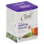 [Choice Organic Teas] 6/16 Bag- Wellness Teas Mental Focus  At least 95% Organic