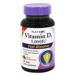 [Natrol]  Vitamin D3 5000IU, Strawberry
