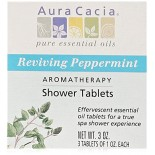 [Aura Cacia] Therapeutic Bath Salts Shower Tab, Reviving Peppermint