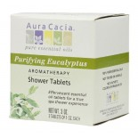 [Aura Cacia] Therapeutic Bath Salts Shower Tab, Purifying Eucalyptus