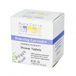 [Aura Cacia] Therapeutic Bath Salts Shower Tab, Relaxing Lavender
