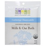 [Aura Cacia] Aromatherapy Bath & Massage Oils Soothing Milk/Oat Bath, Chamo  At least 95% Organic