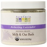 [Aura Cacia] Aromatherapy Mineral Baths Soothing Milk/Oat Bath, Lavender  At least 95% Organic