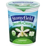 [Stonyfield Farm] Lowfat Yogurt French Vanilla  At least 95% Organic
