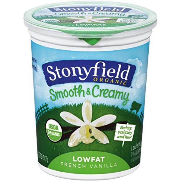 [Stonyfield Farm] Lowfat Yogurt French Vanilla  At least 95% Organic