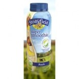 [Stonyfield Farm] Smoothies, Low Fat Drinkable Yogurt Peach  At least 95% Organic