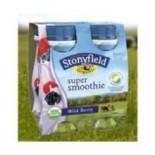 [Stonyfield Farm] Smoothies, Low Fat Drinkable Yogurt Wild Berry  At least 95% Organic