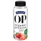 [Stonyfield Farm] Adult Protein Drinks Strawberry  At least 95% Organic
