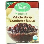 [Pacific Natural Foods] Holiday Classics Cranberry Sauce, Whole Berry  At least 95% Organic