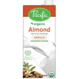 [Pacific Natural Foods] Non Dairy Alternative Beverage Almond, Vanilla, Unsweetened  At least 95% Organic