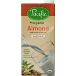 [Pacific Natural Foods] Non Dairy Alternative Beverage Almond Vanilla  At least 95% Organic