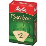 [Melitta]  Bamboo Cone Filter, Brown #2