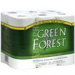 [Green Forest]  Bath Tissue, 2 Ply, White