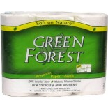[Green Forest]  Paper Towels, 2 Ply, White