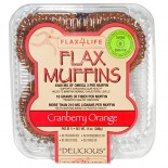 [Flax4Life] Flax Muffins, 4 pack Tantalizing Cranberry & Orange