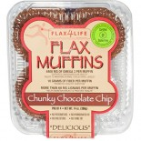 [Flax4Life] Flax Muffins, 4 pack Chunky Chocolate Chip