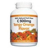 [Natural Factors] Fruit Chewable Vitamin C 500 mg Tangy Orange
