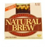 [Natural Brew] Coffee Filters, Unbleached 8