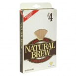 [Natural Brew] Coffee Filters, Unbleached #4 Cone