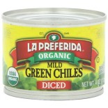 [La Preferida] Peppers & Chiles Diced Green Chiles, Mild  At least 95% Organic