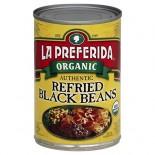 [La Preferida] Beans Authentic Refried Black  At least 95% Organic
