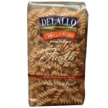 [De Lallo] Organic Semolina Pasta Fusilli #27, Whole Wheat  100% Organic