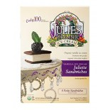 [Julie`S Organics] Organic Ice Cream & Sorbet Novelties Vanilla Juliette Petite Sandwiches  At least 95% Organic