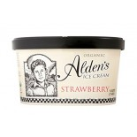 [Aldens Ice Cream]  Strawberry  At least 95% Organic