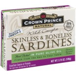[Crown Prince] Seafood/Fish-Sardines In Olive Oil, Skinless & Boneless