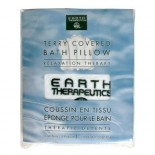 [Earth Therapeutics, Ltd.] Body Care Spa Accessories Terry Bath Pillow, White