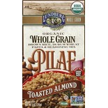 [Lundberg Family Farms] Grains Pilaf, Brown Rice Tstd Almond  At least 95% Organic