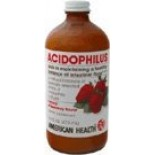 [American Health] Natural Health Aids Acidophilus, Culture, Strawberry