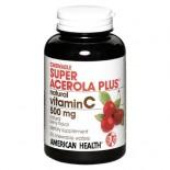 [American Health] Chewable Vitamin C Super Acerola Plus 500 mg