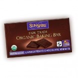 [Sunspire] Baking Chips, Sundrops & Fair Trade Bars Baking Bar, Unswt, FT, 100% Cacao  At least 95% Organic